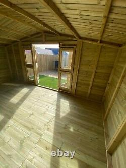 Garden Shed Summer House Tanalised Ultimate Heavy Duty 16x10 22mm T&g. 3x2