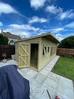 Garden Shed Summer House Tanalised Ultimate Heavy Duty 20x10 22mm T&g 3x2 Bifold