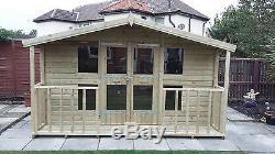 Garden Shed Summerhouse Tanalised Heavy Duty 12x12 13mm T&g. 3x2