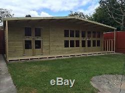 Garden Shed Summerhouse Tanalised Super Heavy Duty 24x12 19mm T&g. 3x2
