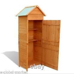 Garden Shed Wooden Storage Tools Cabinet Outdoor Waterproof Roof Store Unit