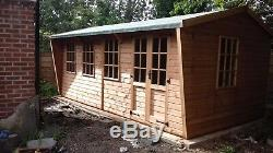 Garden Shed Workshop 16x10ft Wooden Heavy duty Timber