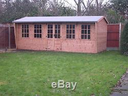 Garden Shed Workshop 20x8 ft Wooden Heavy Duty Timber building free fitting