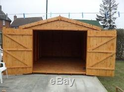 Garden Shed security workshop/garage 20X10 7ft D/D 3X2frame 1thick floor