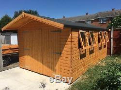 Garden Shed/ workshop 16x10 7ft double door 13mm t+g 3X2 frame 1thick floor
