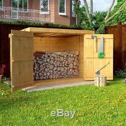 Garden Storage Shed Large Wooden 6x3ft Tool Bike Furniture BBQ Log Storage  NEW
