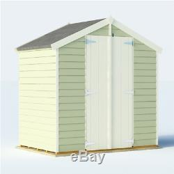 Garden Storage Shed Wooden 6x4 Large Tools Apex Roof with Tongue & Groove Door NEW