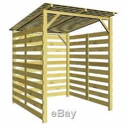 Garden Storage Shed Wooden Canopy With 3 Walls Patio Pergola Gazebo Arbour Cabin