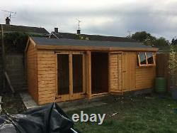 Garden Summerhouse/shed 20X10 13mm kiln dried t+g 3X2 framework 1thick floor