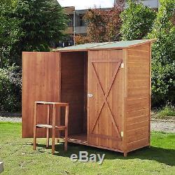 Garden Wooden Shed Storage Unit Tool Bike Outdoor Patio Cabinet Double Door New