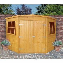 Garden Wooden Shed / Workshop'Corner Shed' 8'x8' 12x120mm T&G shiplap