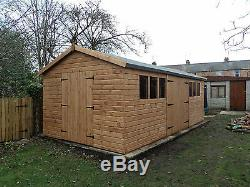 Garden Workshop Shed 20x10ft Heavy Duty wooden Timber building free fitting