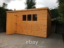 Garden shed 12x10 pent 13mm t+g including roof 3x2 frame 1 thick floor