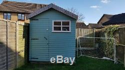 Garden shed 6.5x10. Loglap Treated Planed Claddin 19mm with 3 windows