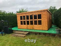 Garden shed Summerhouse 14X10 opening windows 13mm t+g 3x2 frame 1thick floor