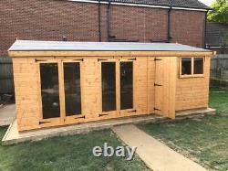 Garden shed/office/ summerhouse 20X10 13mm t+g 3X2 framework 1thick floor