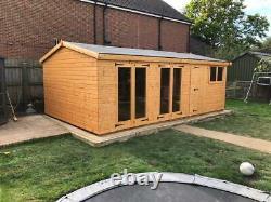 Garden shed/summerhouse 20X10 13mm kiln dried t+g 3X2 framework 1thick floor