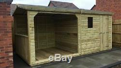 Gazebo 16ft X 8ft Wooden Garden Shed With 8ft Hot Tub Design Shed/office/garage