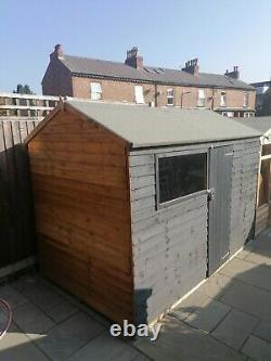 Grey Wooden garden shed 10x6ft