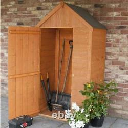 HONEYCROFT OVERLAP SENTRY BOX POTTING SHED GARDEN TOOLS COMPACT TALL 3 X 2Ft