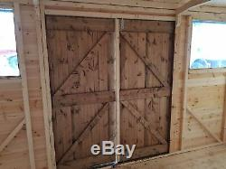 Heavy duty hipex garden shed workshop with double doors
