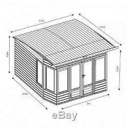 Helios Summerhouse (10 x 10) Mercia Garden Products Sheds