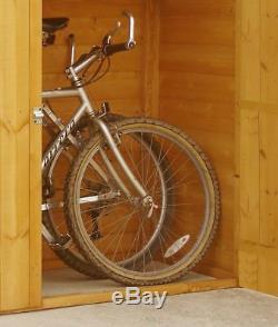 Homewood Pine Garden Bike Mower Store Shed 6 x 2ft