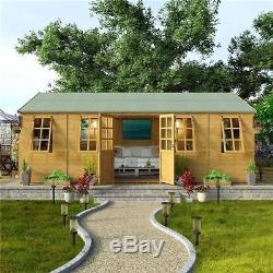 Perfect Huge Summer House Patio Garden Wooden Large Outdoor Building Shed Cabin  16X10