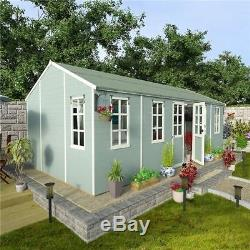 Huge Summer House Patio Garden Wooden Large Outdoor Building Shed Cabin  16X10