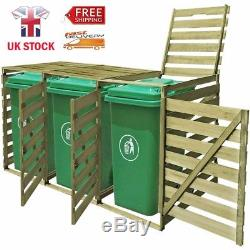 Impregnated Triple Wheelie Shed for 3 of 240 L Garbage Bins Garden Large Storage