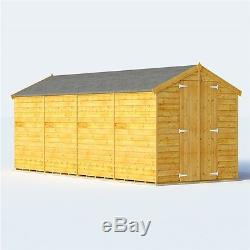 Keeper Overlap Apex Windowless Garden Wooden Outdoor Family Storage