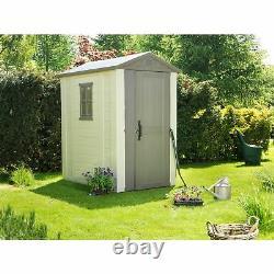 Keter Factor Apex Garden Beige/Brown Storage Shed 4 x 6ft
