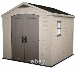 Keter Factor Apex Garden Beige/Brown Storage Shed 8 x 8ft