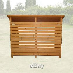 Large Double Wood Store Garden Log Storage Shed Firewood Wooden Outdoor Treated
