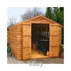Large Garden Shed Wooden Heavy Duty Wood Double Door Tool Lawnmower Bike  Storage