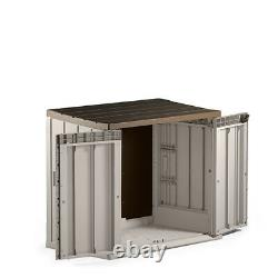 Large Plastic Garden Outdoor Mower Storage Box Shed 842 litre 1.3 x 0.75m