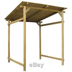 large wooden garden shed house storage lean to canopy outdoor inclined roof