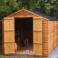 Large Wooden Garden Shed Outdoor Storage Garage Tools Patio Cabin Yard Workshop