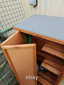 Large Wooden Garden Shed Outdoor Store Cupboard Tool Storage Lawn Mower Cabinet