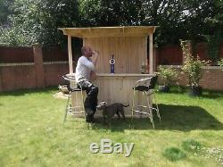 Large garden outdoor drinking bar shed mancave home pub