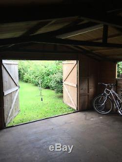 Large wooden garden shed/workshop/garage 15'2x19'9