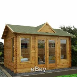 Log Cabin Shed Office Summerhouse Storage Garden Outdoor Wood Large Playhouse