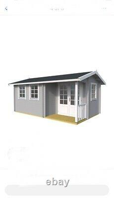 Log Cabin Summer House Shed Outdoor Garden Wooden House 5.6m x 3.6m