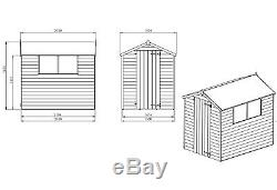 Mercia Overlap Wooden Garden Shed 7 x 5ft