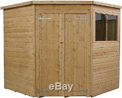 Mercia Wooden Garden Shiplap Corner Shed with Double Door 7 x 7ft -From Argos