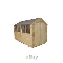 NEW Forest Garden Overlap Workshop Shed 10x8 Outdoor Wooden Sheds Tool Storage
