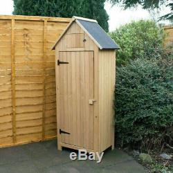 NEW WOODEN GARDEN SHED APEX SHEDS TOOL STORAGE CABINET WITH SHELVES OUTDOOR Wido