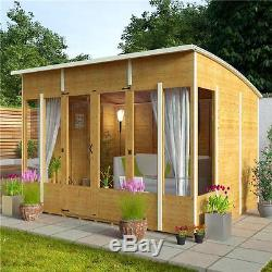 NEW Wooden 10x8 Garden Summer House Sunroom Outdoor Log Shed Cabin Patio  Large