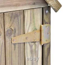 Natural Wooden Cabinet Garden Tool Shed Storage Hut Apex Roof Cupboard With Door