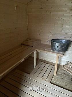 Outdoor Sauna SHED Garden Sauna wood Fired
